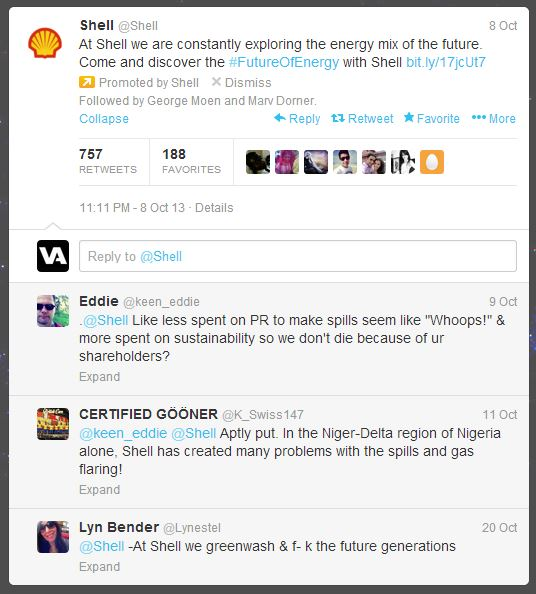 Shell tweet fail